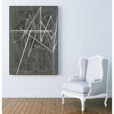 "30 in. x 40 in. ""Vertices II"" by Ethan Harper Framed Wall Art"