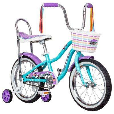 16 in. Girl's Bike for Ages 3-Years to 5-Years in Teal