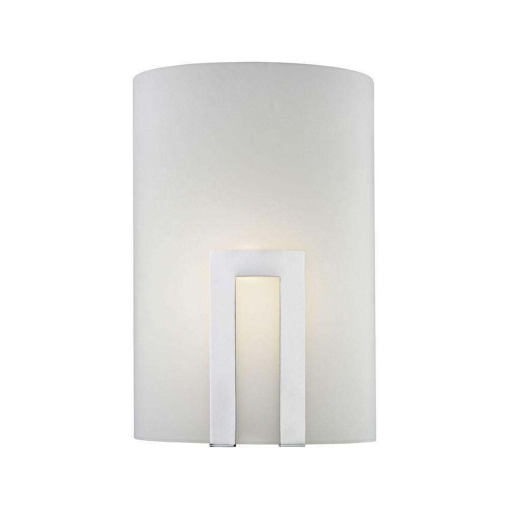 Titan Lighting Portal 1-Light Chrome and Frosted Glass LED Wall ...