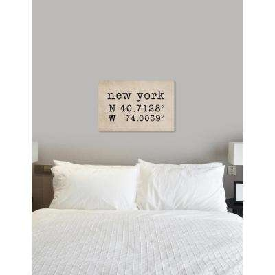 """""""NY Coordinates"""" by Oliver Gal Canvas Wall Art"""