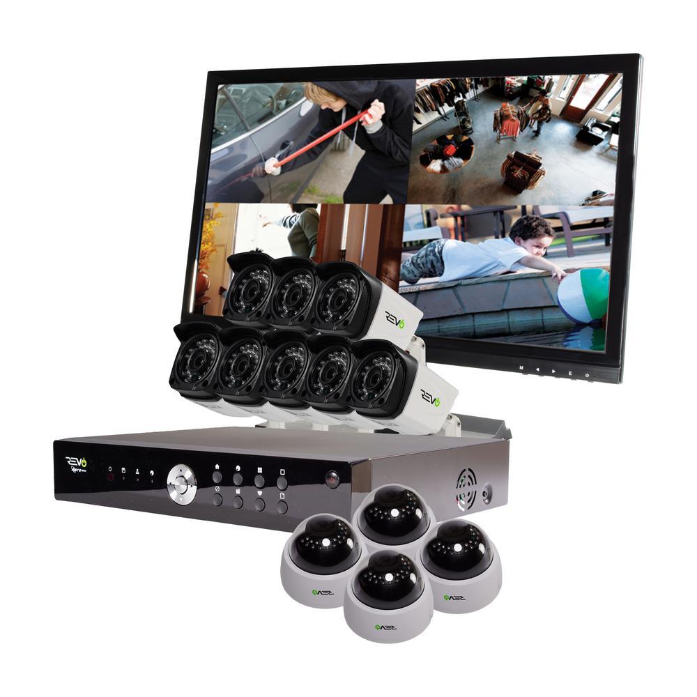 Revo Aero 16-Channel HD 2TB Surveillance DVR with 12 1080p Indoor/Outdoor Cameras