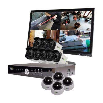 Aero 16-Channel HD 2TB Surveillance DVR with 12 1080p Indoor/Outdoor Cameras