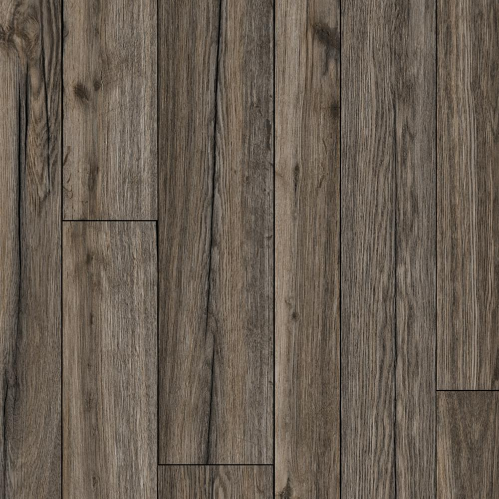 Take Home Sample - Multi-Width Rustic Hickory Vinyl Sheet - 6 in. x 9 in., Multi-Width Grey Hickory With Urethane Wear Layer