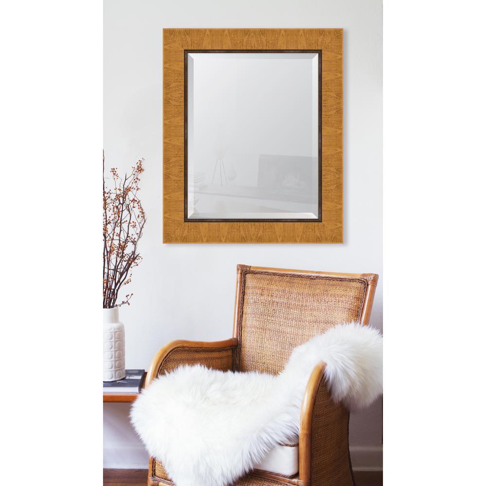 31 in. x 37 in. Natural Scoop Montalcino Resin Frame Mirror
