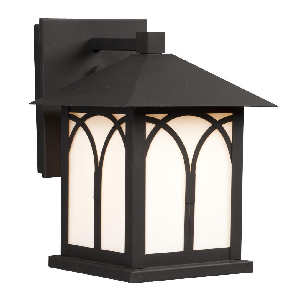 Filament Design Negron 1-Light Outdoor Black Wall Lantern