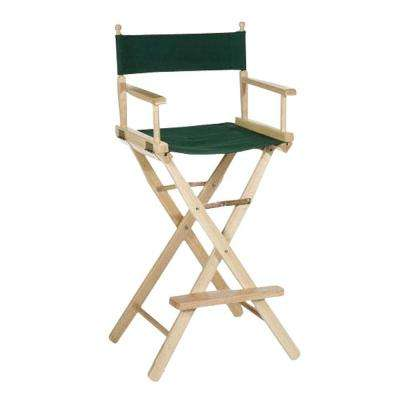 30 in. Director's Chair Natural Solid Wood Frame