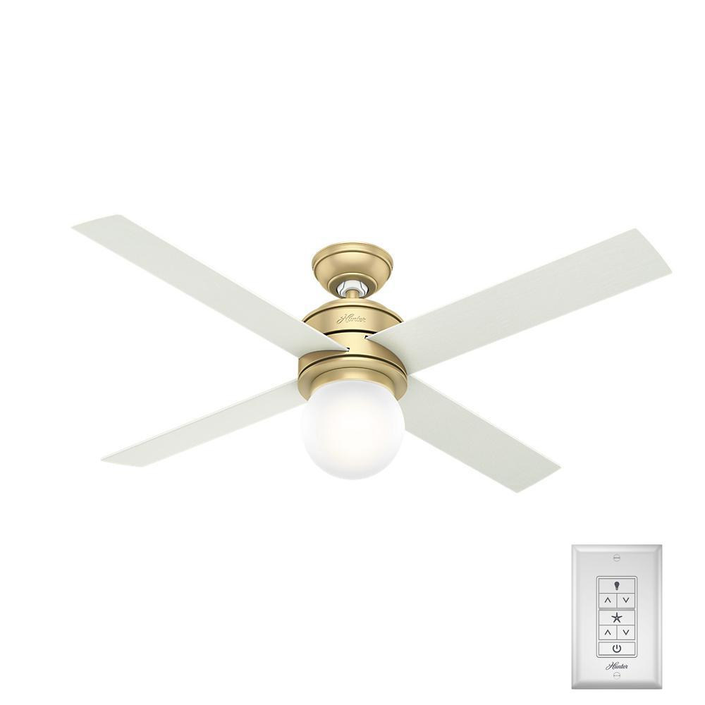 Charmant LED Indoor Modern Brass Ceiling Fan