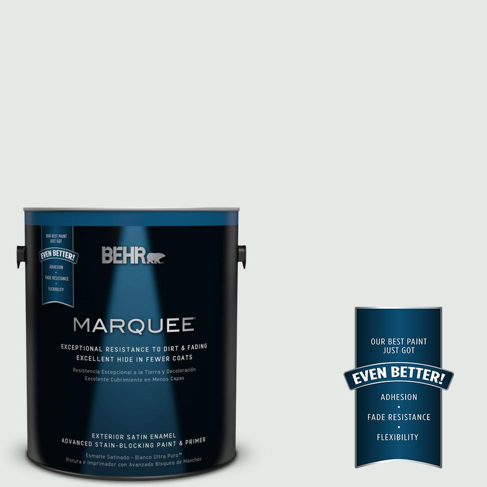 BEHR MARQUEE 1-gal. #BL-W7 Wind Chill Satin Enamel Exterior Paint