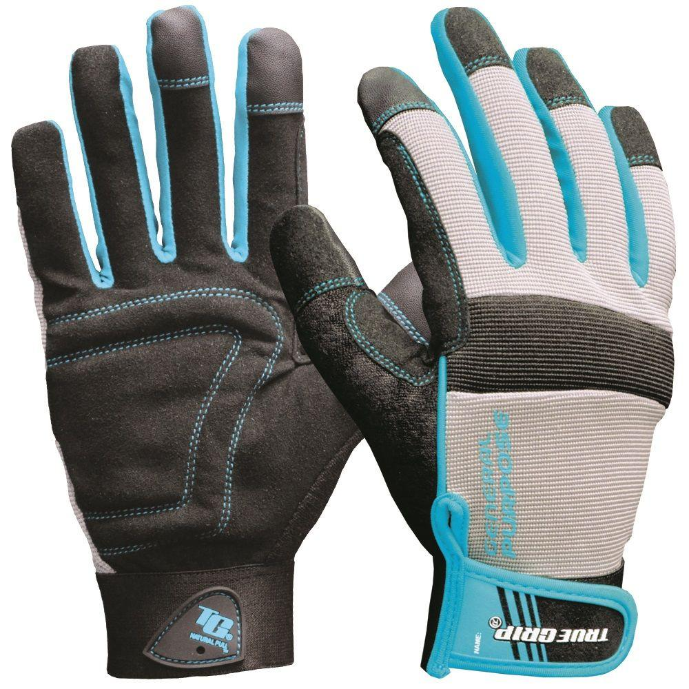 True Grip Large Women's Blue General Purpose Gloves