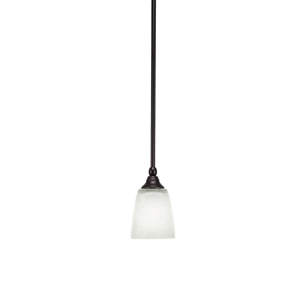 Filament Design 1-Light Espresso Mini Pendant with 4.5 in. White Muslin Glass