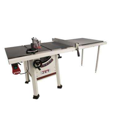 1.75 HP 10 in. Proshop Table Saw with 52 in. Fence, Cast Iron Wings and Riving Knife, 115/230-Volt, JPS-10TS