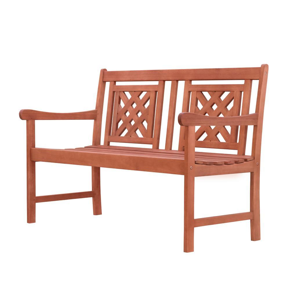 Phenomenal Vifah Malibu 2 Person Wood Outdoor Bench Ibusinesslaw Wood Chair Design Ideas Ibusinesslaworg