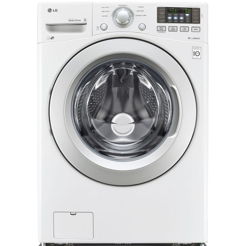 LG Electronics 4.3 cu. ft. High-Efficiency Front Load Washer in White, ENERGY STAR