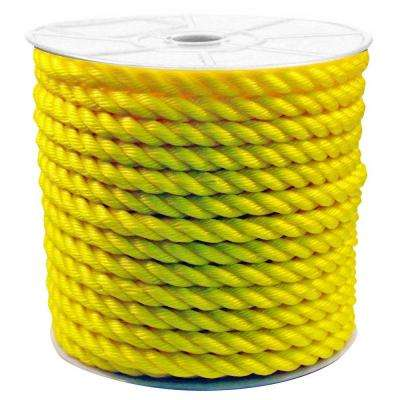 3/4 in. x 200 ft. Twisted Poly Rope Yellow
