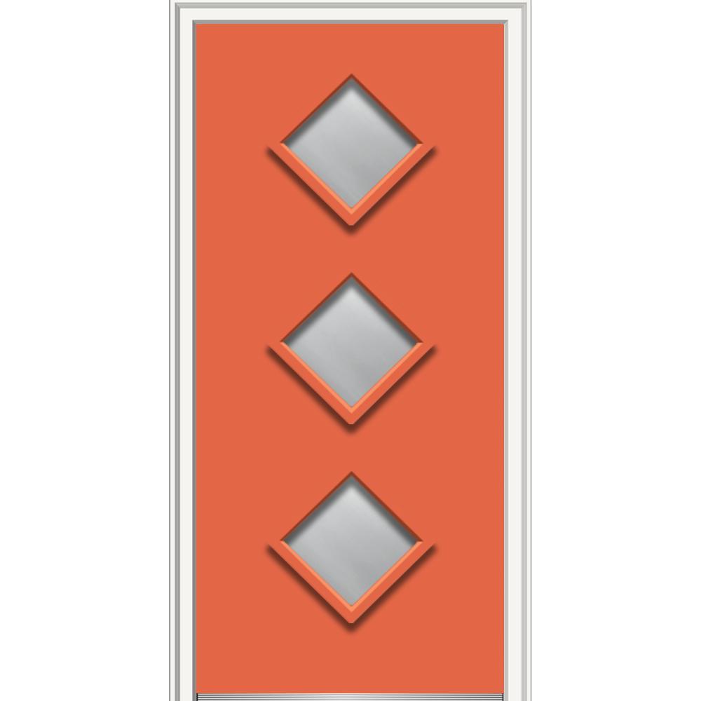 Mmi door 36 in x 80 in aveline clear low e left hand 3 for 16 x 80 door