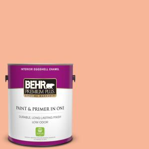1 gal. #P190-3 Melon Sorbet Eggshell Enamel Low Odor Interior Paint and Primer in One