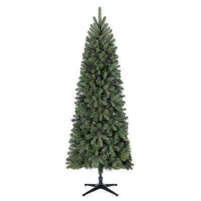 Skinny Christmas Tree.7 Ft Unlit Manchester Fir Slim Artificial Christmas Tree