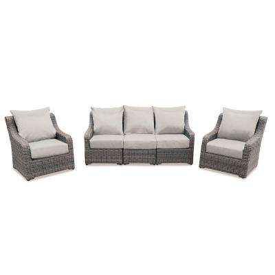 Cherry Hill 5-Piece Patio Deep Seating Set with Cast Ash Cushions