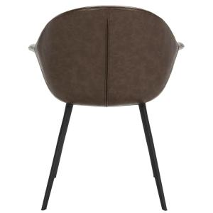 Outstanding Safavieh Dublin Dark Brown Black Leather Dining Chair Set Caraccident5 Cool Chair Designs And Ideas Caraccident5Info