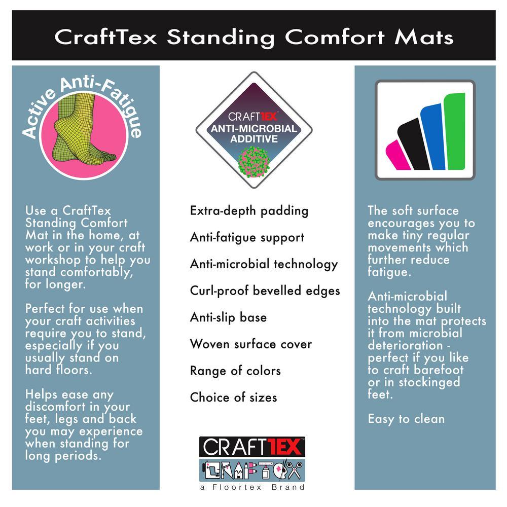 Gray Standing Comfort 20 in. x 32 in. Luxury Anti-Fatigue Mat