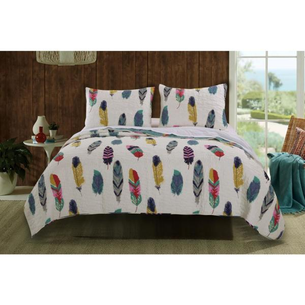 Greenland Home Fashions Dream Catcher 3-Piece Multi Full and Queen Quilt