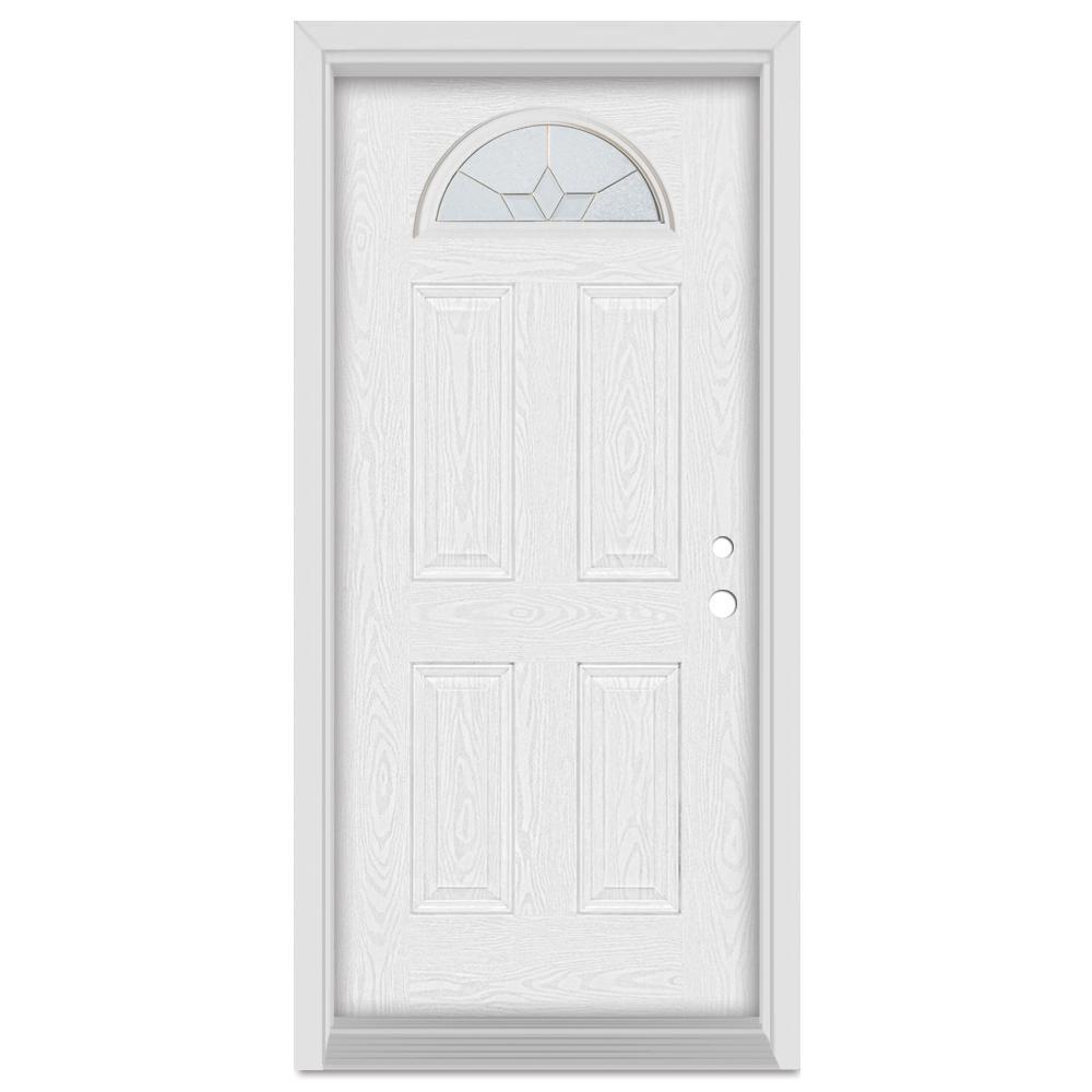 Stanley Doors 37375 In X 83 In Geometric Left Hand Half Moon Lite