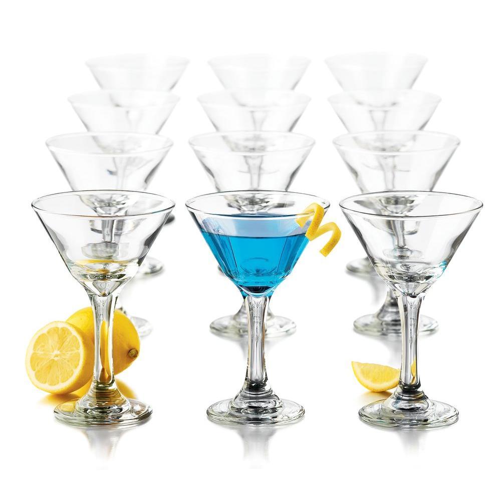 Libbey 7.5 oz. 12-Piece Martini Party Glass Set