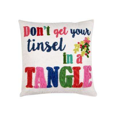 Dont Get Your Tinsel Pillow