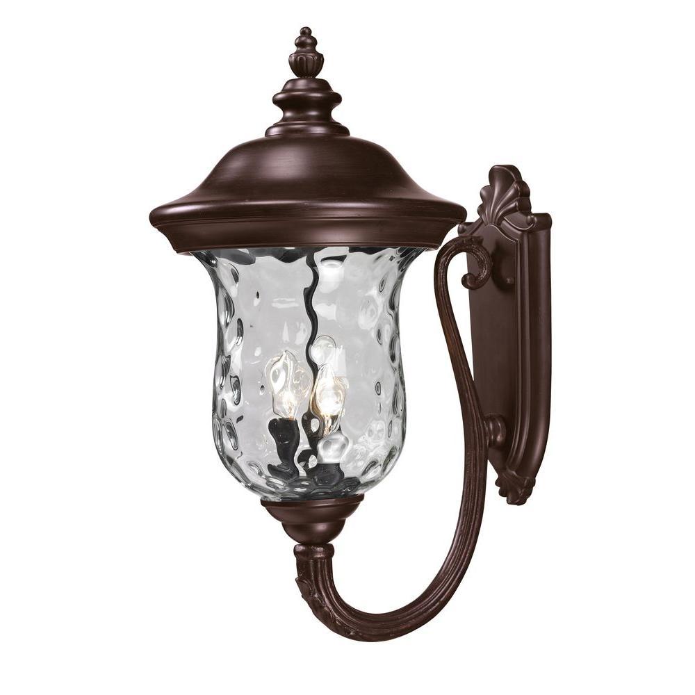 Filament Design Lawrence 3-Light Bronze Outdoor Incandescent Wall Lantern Sconce