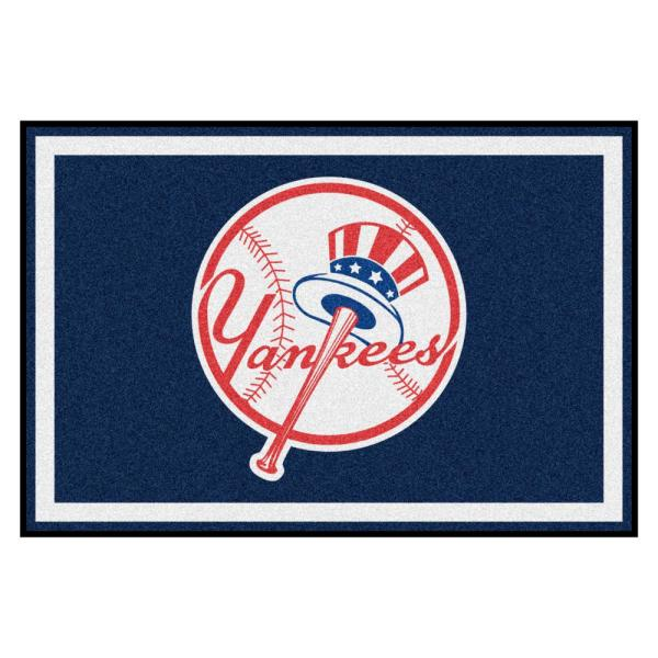 MLB - New York Yankees 5 ft. x 8 ft. Ultra Plush Area Rug