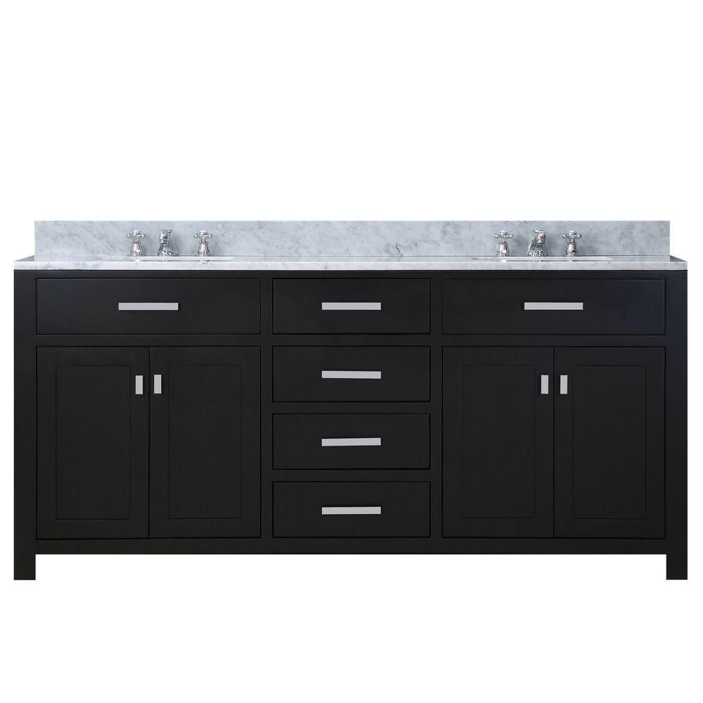 60 in. W x 21 in. D Vanity in Espresso with