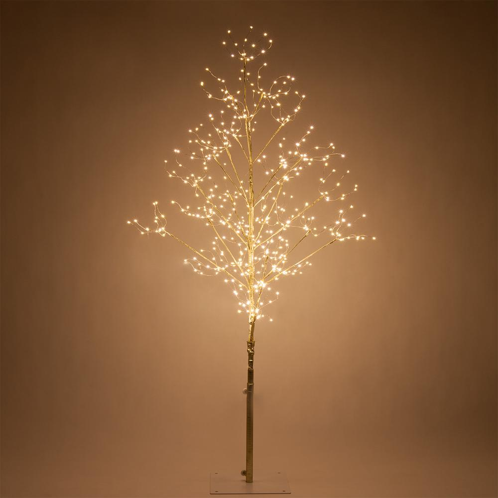 Wintergreen Lighting 4 Ft. Gold Lighted Twig Tree With 390