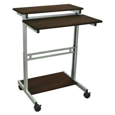 Brown Adjustable Stand Up Workstation