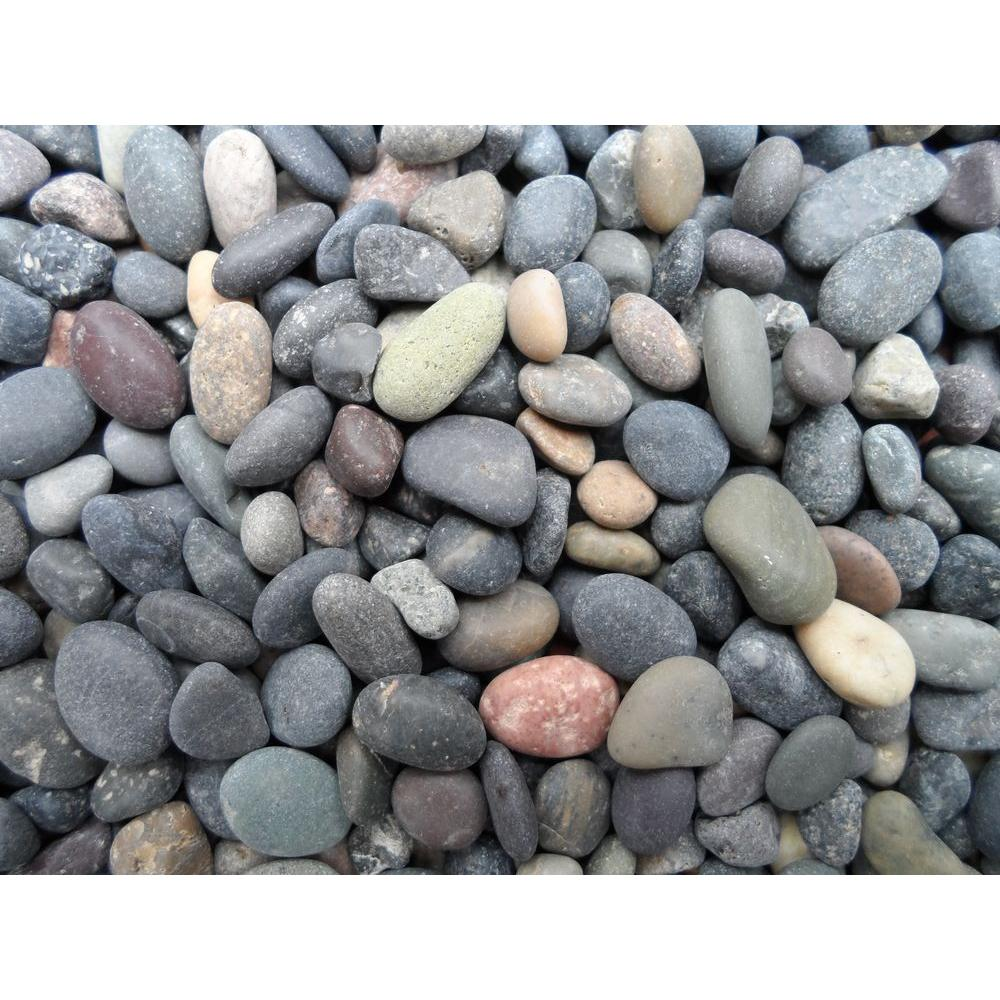 Butler arts cu ft 75 lb 1 4 in to 1 2 in mixed for Beach rocks for landscaping