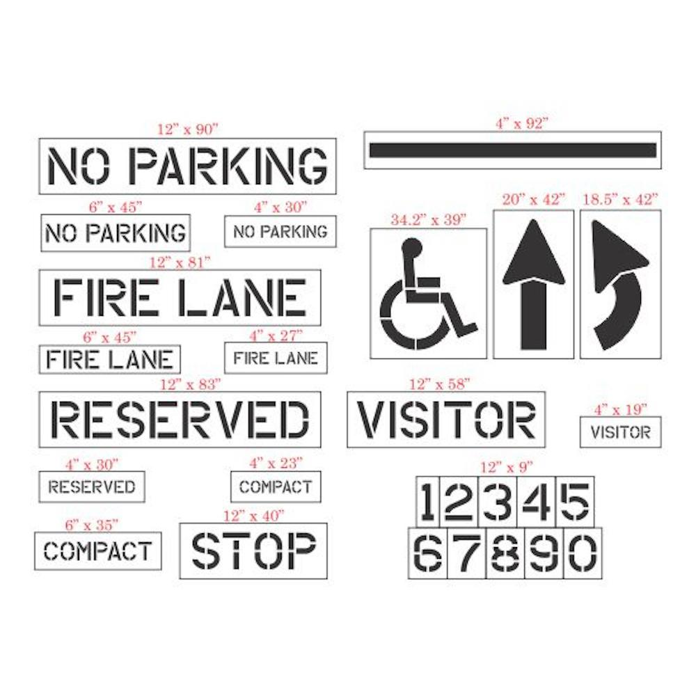 27-Piece Parking Lot Stencil Kit