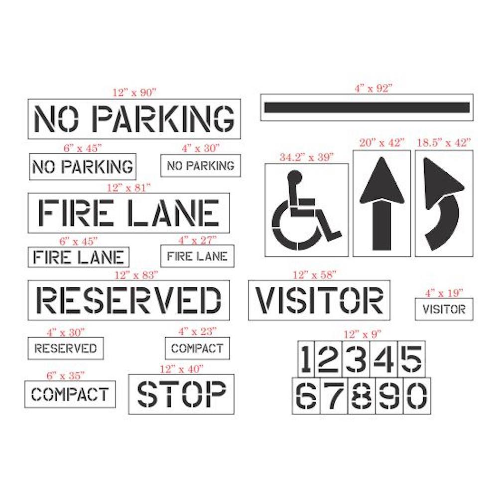 27-Piece Parking Lot Stencil Kit