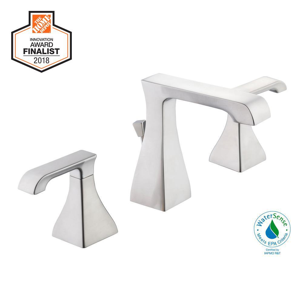Adelyn 8 in. Widespread 2-Handle High-Arc Bathroom Faucet in Brushed Nickel