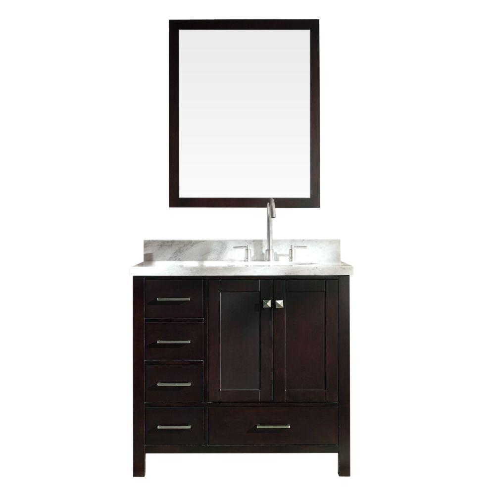Cambridge 37 in. W x 22 in. D Vanity in Espresso