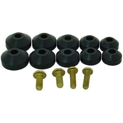 Beveled Faucet Washers Assortment with Screws (12-Pack)