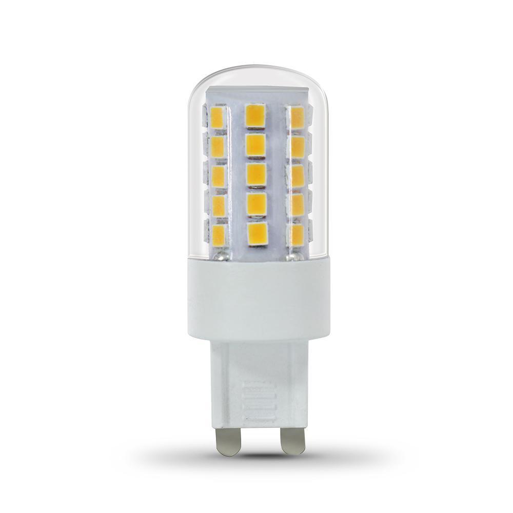 feit electric 40 watt equivalent warm white 3000k g9 bi pin led light bulb bpg940 830 led. Black Bedroom Furniture Sets. Home Design Ideas