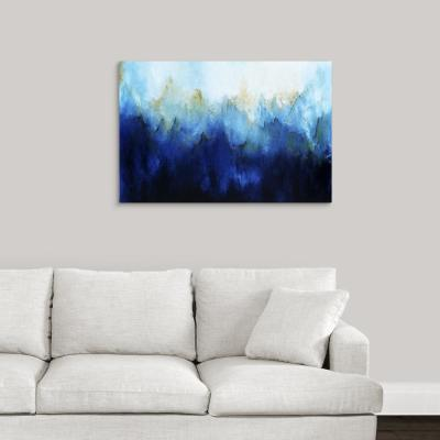 """Sapphire Flare Up"" by May Art Canvas Wall Art"