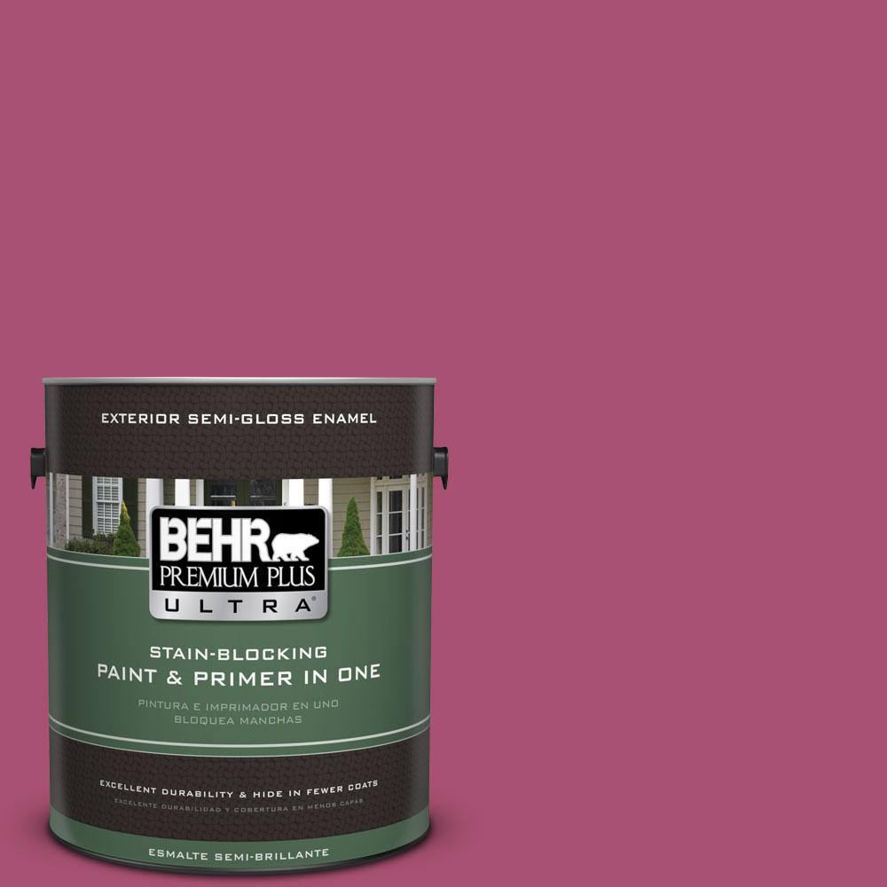 BEHR Premium Plus Ultra 1-gal. #110B-6 Cran Brook Semi-Gloss Enamel Exterior Paint