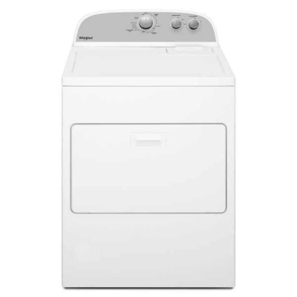 Whirlpool 7 0 Cu Ft 120 Volt White Gas Vented Dryer With Autodry Drying System Wgd4950hw The Home Depot