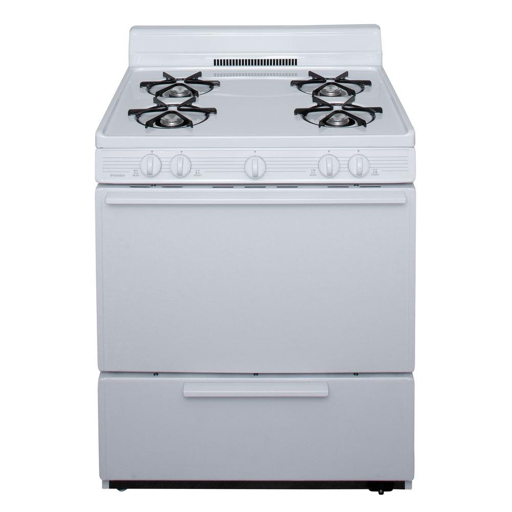 Premier 30 in 391 cu ft Battery Spark Ignition Gas Range in