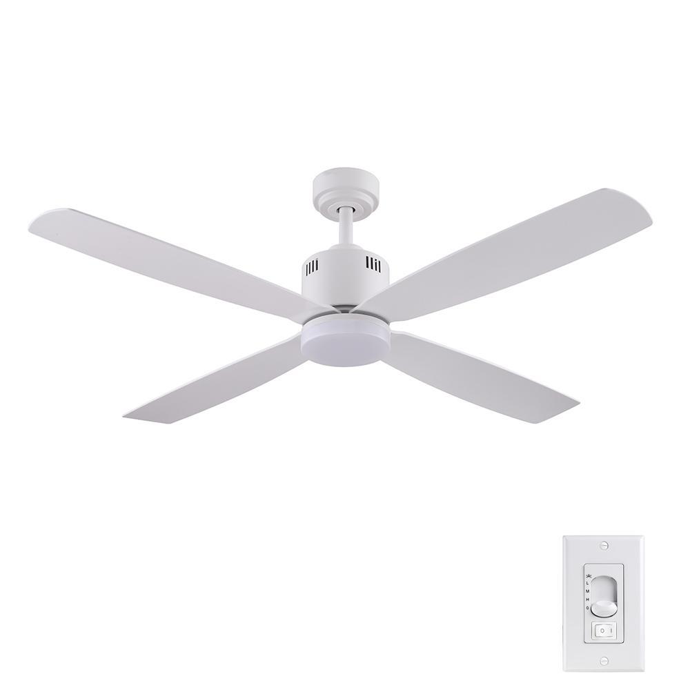 Kitteridge 52 in. LED Indoor White Ceiling Fan with Light Kit