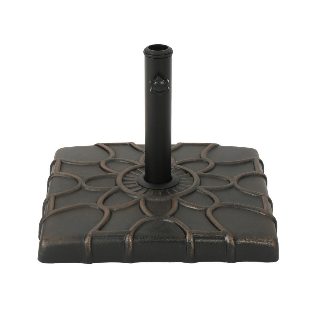 Phillip 40.08 lbs. Concrete Patio Umbrella Base in Hammered Dark Copper
