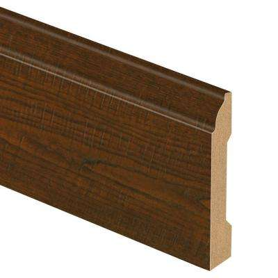 Auburn Scraped Oak 9/16 in. Thick x 3-1/4 in. Wide x 94 in. Length Laminate Wall Base Molding