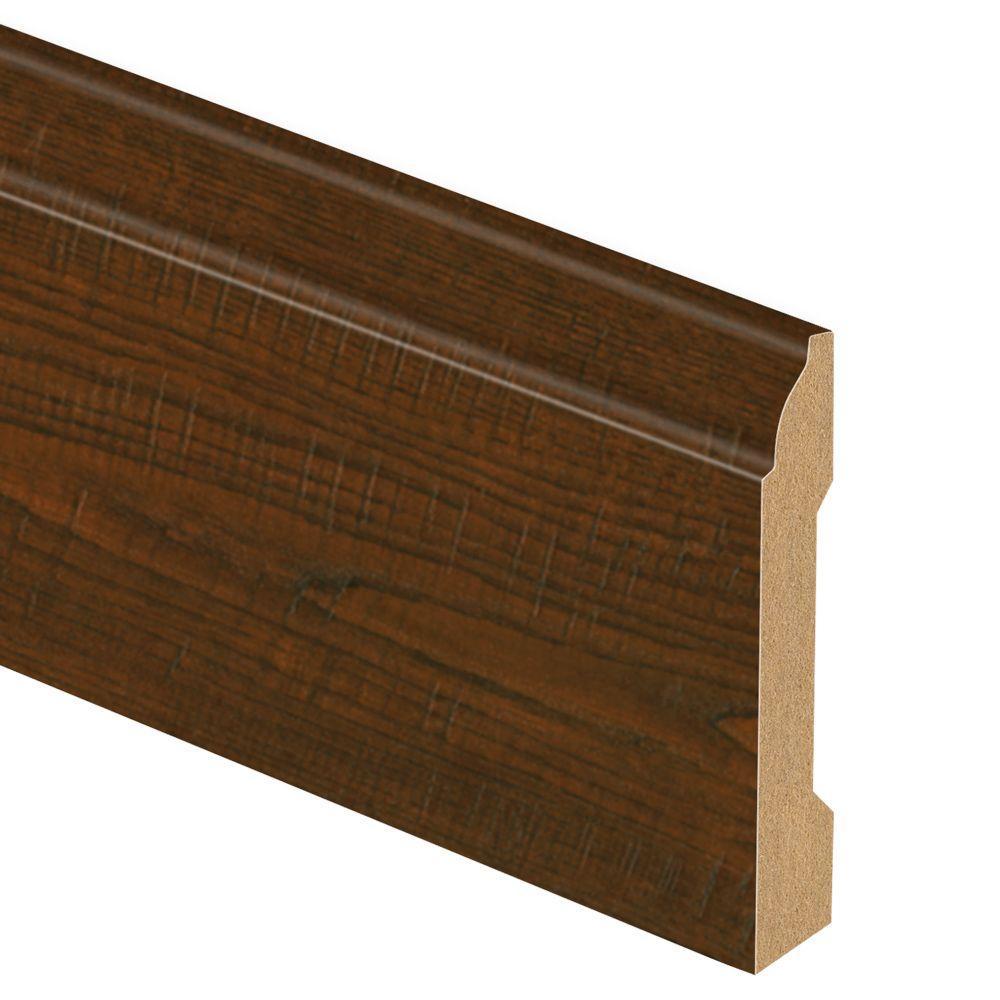 Auburn Scraped Oak 9/16 in. Thick x 3-1/4 in. Wide x 94 in. Length Laminate Wall Base Molding