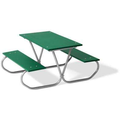 Commercial Park 3 Ft. Green Polyethylene Planks Portable Preschool Table