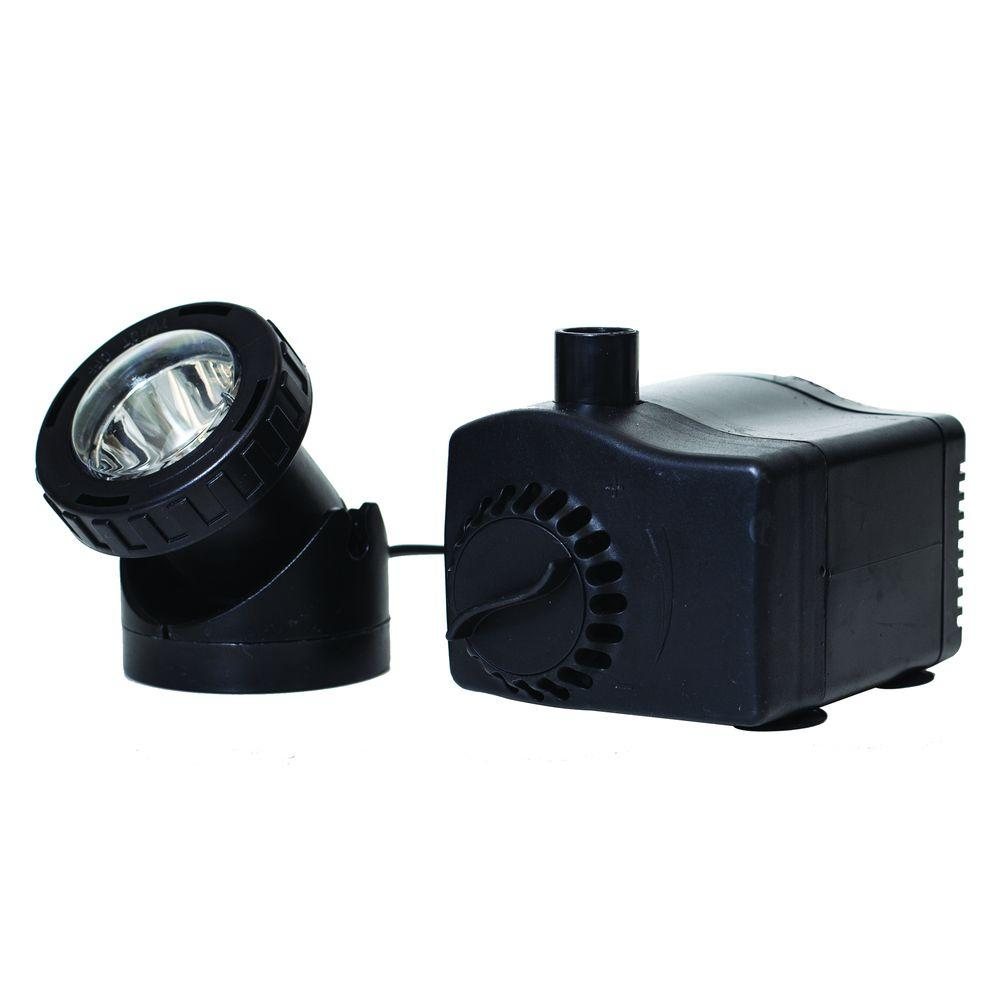 Total pond 400 gph low water shut off fountain pump with for Pond fountain pump